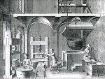 Εργοστάσιο κατασκευής χάρτου. Χαλκογραφία, Παρίση1767.