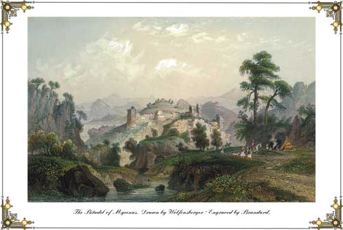 The Citadel of Mycenas.