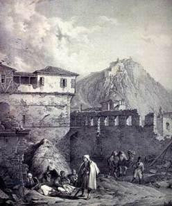 Κρατσάιζεν Καρλ - Το Παλαμήδι με ένα τμήμα του Ναυπλίου.