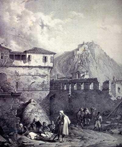 Κρατσάιζεν Καρλ - Το Παλαμήδι με �να τμήμα του Ναυπλίου.
