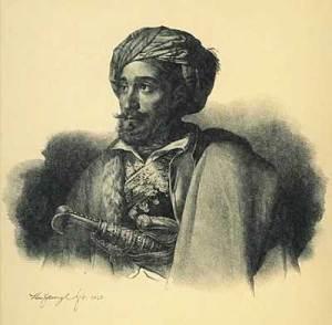 Μακρυγιάννης - Λιθογραφία του Karl Krazeisen