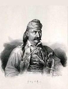 Theodoros Kolokotronis - Lithography by Karl Krazeisen (1794-1878) d7966dfb88f
