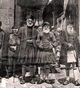 Γέροντες Τρίπολη 1900. Αρχείο: Ν. Γρηγοριάδη.