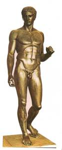 Ο «Δορυφόρος», αντίγραφο του πρωτότυπου έργου. Φωτογραφία: Ιστορία Ελληνικού Έθνους, Εκδοτική Αθηνών