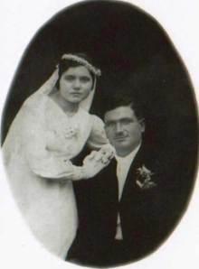 Σπύρος Δαμάλας & Ευσταθία Γ. Φλέσσα 1938.