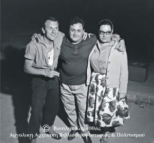 Γιώργος Μούτσιος, Μάνος Χατζιδάκης, Νανά Μούσχουρη.
