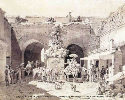 Ναύπλιο – Η Πύλη της Ξηράς (εσωτερική πλευρά), Karl von Heideck 1837.