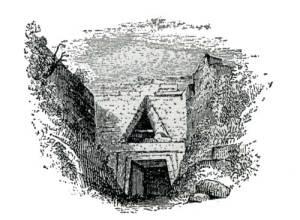 Θησαυρός του Ατρέα ( Χαλκογραφία C. Wordsworth, 1841)