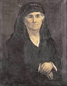 Η σύζυγος του στρατηγού Μακρυγιάννη Αικατερίνη, το γένος Γ. Σκουζέ.