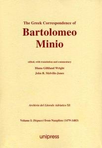 The Greek Correspondence of Bartolomeo Minio