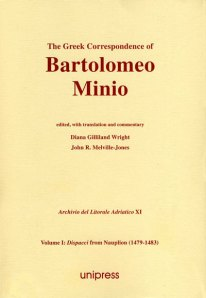 The Greek Correspondence of Bartolomeo Minio