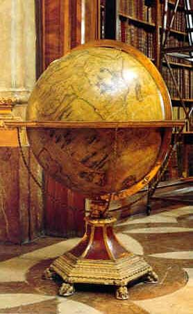 Vincenzo Coronelli, terrestrial globe Ø 110 cm. Vienna, Österreichische Nationalbibliothek.