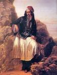 «Ένας Έλληνας», ελαιογραφία, LouisDupré.