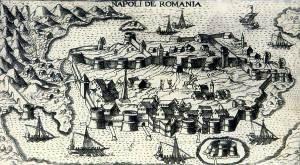 Άποψη του Ναυπλίου, Venetia, 1598.