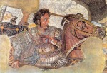 Alexander is from the mosaic of the battle of Issus from the Museo Nazionale, Naples,Italy.