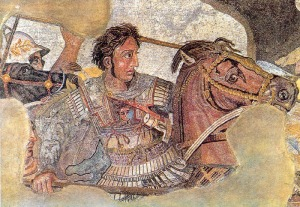 Alexander is from the mosaic of the battle of Issus from the Museo Nazionale, Naples, Italy.