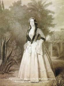 Αμαλία, βασίλισσα της Ελλάδος, 1859.