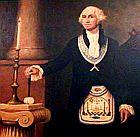 Ο Τζωρτζ Ουάσινγκτων με Τεκτονικό Περίζωμα.