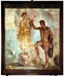 Η Ανδρομέδα με τον Περσέα, σε τοιχογραφία τηςΠομπηίας.