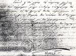 Έγγραφο του φρουράρχου  Αντώνιο Figuerra d' Almeida στο ιστορικό ΑρχείοΝαύπλιου.