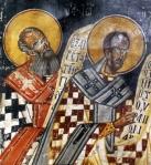 Οι Άγιοι Γρηγόριος ο θεολόγος και Ιωάννης ο Χρυσόστομος 16οςαιώνας.