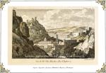 """Άποψη της Ύδρας στα τέλη του 18ου αιώνα. Castellan """"Lettres sur la Morée"""", Paris1808."""