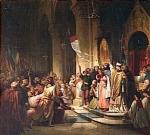 Η στέψη του Βονιφάτιου του Μομφεράτου σαν αρχηγού της 4ης Σταυροφορίας – έργο του Henri Decaisne(1840).