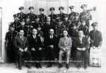 Η Φιλαρμονική του Δήμου Ναυπλίου τη δεκαετία του 1950. Στο μέσο όρθιος ο αρχιμουσικός Β.Χαραμής.
