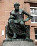 Statue of Aristotle (1915) by Cipri Adolf Bermann at the University of Freiburg im Breisgau,Germany.