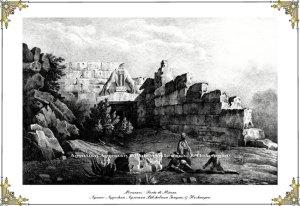 Μυκήνες -  Porta di Micene, λιθογραφία,  αρχές 19ου αιώνα