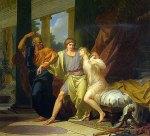 Ο Σωκράτης απομακρύνει τον Αλκιβιάδη από την αγκαλιά της αισθησιακής απόλαυσης. Λάδι σε καμβά του Ζαν Μπατίστ Ρενό, 1791. Μουσείο Λούβρου,Παρίσι.
