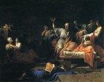 Πίνακας με τον Σωκράτη και τουςμαθητές.