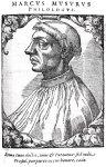 Μάρκος Μουσούρος, χαλκογραφία, Reusner, Icones Clarorum Vivorum,1589.