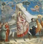 Η φυγή στην Αίγυπτο – Giotto di Bondone, Arena Chapel (ca.1305)