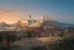 Αναπαράσταση της Ακρόπολης και του Αργείου Πάγου (1846). Neue Pinakothek (Gallery),Munich.