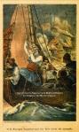 Ο Κανάρης πυρπολεί τούρκικο πλοίο, λιθογραφία,1901.
