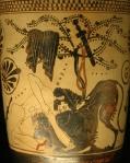 Ο Ηρακλής παλεύει με το λιοντάρι τηςΝεμέας.