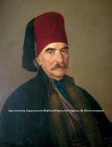 Προσωπογραφία Μιχαήλ Ιατρού (1848). Διονύσιος Τσόκος, λάδι σε μουσαμά, 69Χ54 εκ. Συλλογή: Ελένης Σπηλιωτάκη.