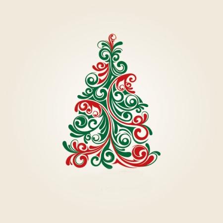 Χριστουγεννιάτικο δέντρο, σκίτσο.