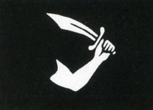 Η σημαία του Τόμας Τιού (Thomas Tew) υπήρξε μία από τις ελάχιστες που διαφοροποιήθηκαν.