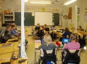 Αίθουσα Δημοτικού Σχολείου στη Φινλανδία