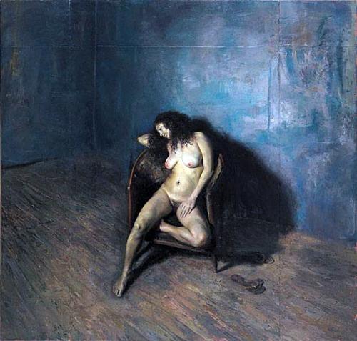 Γιώργος Ρόρρης – Μπλε Αλεξάνδρα, 2005-2006, λάδι σε μουσαμά, 221Χ231 εκ.
