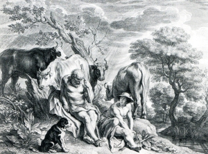 Ερμής, Άργος και Ιώ. Schelte à Bolswert , Χαλκογραφία. Ρότερνταμ, Museum Boijmans Van Beuningen.