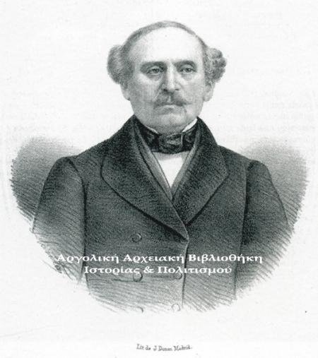 Δημήτριος Καλλέργης. Λιθογραφία, J. Donon, Μαδρίτη.