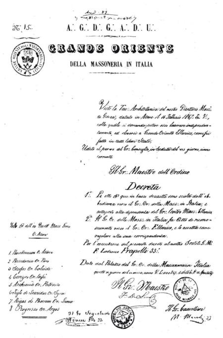 GRANDE ORIENTE DELLA MASSONERIA IN ITALIA