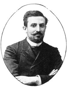 Λάζαρος Σώχος. Τσιγκογραφία από το «Ημερολόγιο Σκόκου», 1895.