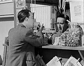 Τζιπ, Περίπτερο και Αγάπη μια ελληνική ταινία του 1957. Στη φώτο, Νίκος Σταυρίδης - Νίκος Ρίζος.