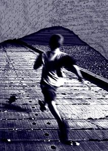 Φωτογραφία από το εξώφυλλο του βιβλίου του Xose Tarrio Gonzales, «Τρέξε άνθρωπε τρέξε - Ημερολόγιο από τις φυλακές FIES». Έκδοση του Ταμείου αλληλεγγύης και οικονομικής υποστήριξης των φυλακισμένων αγωνιστών, Αθήνα, 2011. Επιλογή φώτο: Αργολική Βιβλιοθήκη.