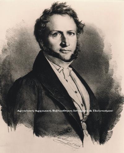 Μάουρερ Γεώργιος - Λουδοβίκος. Λιθογραφία,  Gottlieb Bodmer, 1836.