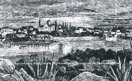 Πρόχειρο σχέδιο των Στρατώνων που δημοσιεύτηκε στο αγγλικό περιοδικό «The Graphic» (20.1.1877) και στο γαλλικό «L᾿  Illustration» (27.1.1877).